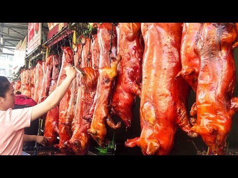 King Of Roast Pigs - Asian Street Food, Street Food Around the World, Cambodian Street Food #25