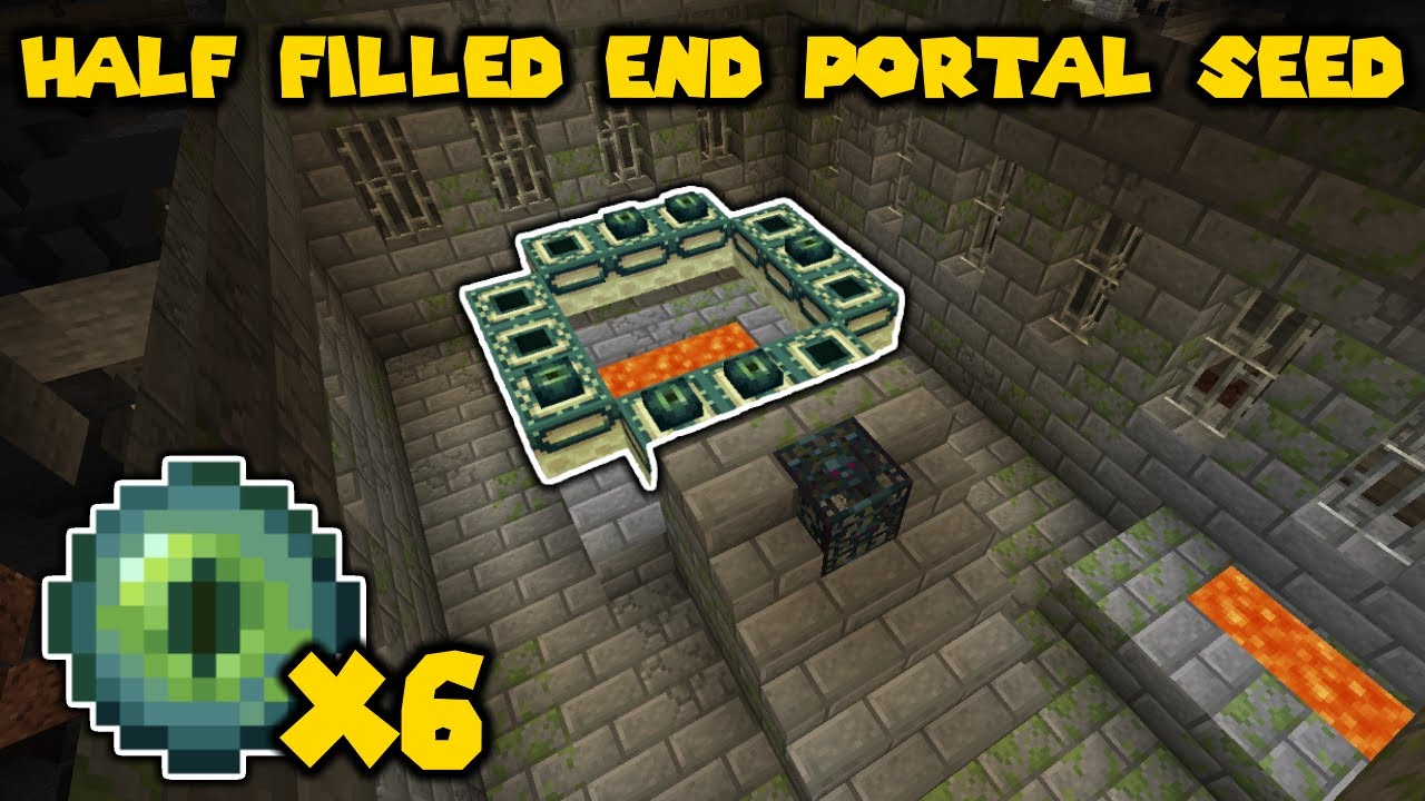 HALF FILLED END PORTAL SEED | MINECRAFT BEST SEED EVER 1.15.2 MINECRAFT SEED 1885847509512966059