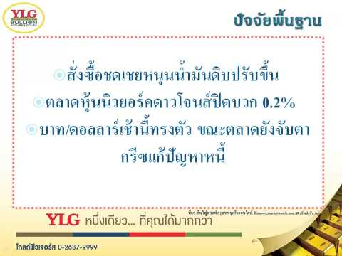 YLG บทวิเคราะห์ราคาทองคำประจำวัน 18-02-15