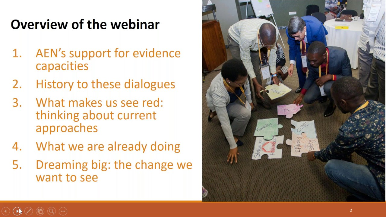 Africa Evidence Webinar #4: Capacity-sharing for the use of evidence