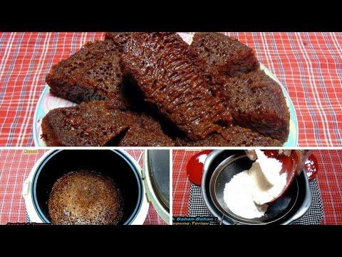 Video Cara Membuat Bolu Karamel Sarang Semut Rice Cooker(Tanpa Mixer & Oven)