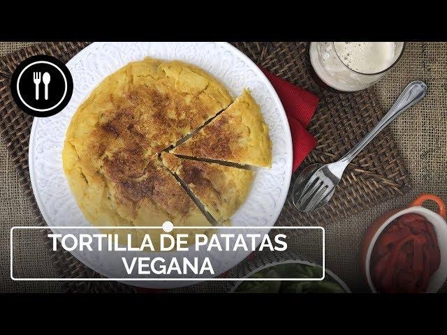 Receta de TORTILLA DE PATATA VEGANA, sin huevo | Instafood