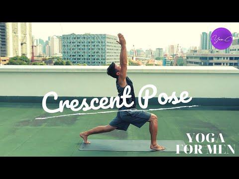 YOGA FOR MEN | CRESCENT POSE ✨ GET FIT #59