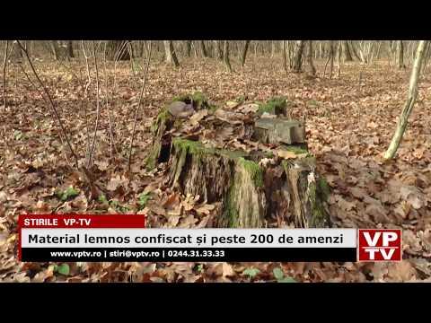Material lemnos confiscat și peste 200 de amenzi