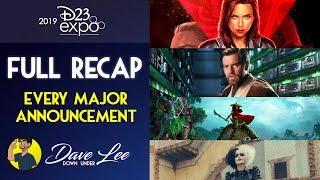 D23 Expo 2019 - Every Major Announcement Recap (Disney, Pixar, Marvel, Star Wars, Disney+) Explained
