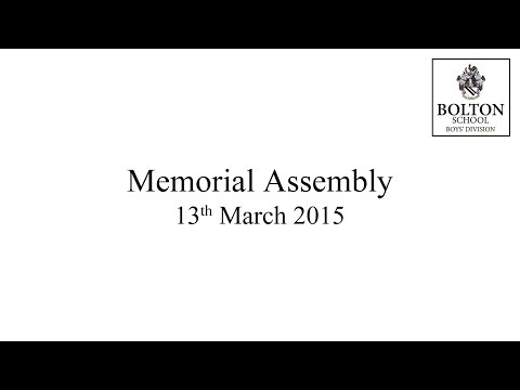 WWI Memorial Assembly March 2015