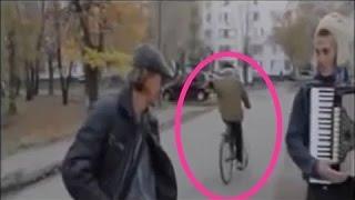【驚愕】実在するタイムトラベラー 自転車が突然に現れる衝撃映像
