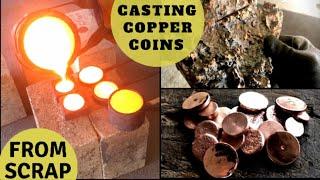 Trash To Treasure Casting Copper Coins From Massive Copper Fail