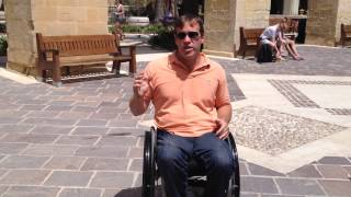 preview picture of video 'Valletta Malta Wheelchair Access Review by John Sage'