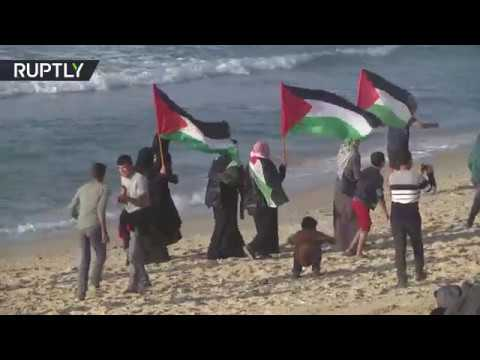 Gaza flotilla protest: At least 25 injured by Israeli fire