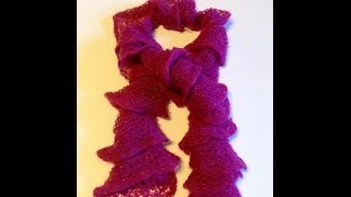How To Knit Ruffle Scarf In 15 Minutes |  How To Knit Rigoletto Ruffle Scarf | Knit Scarf Pattern