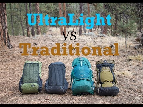 Ultralight Vs Traditional Packs – What's the Best for you?