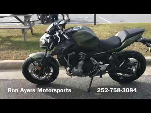 2018 Kawasaki Z650 ABS in Greenville, North Carolina