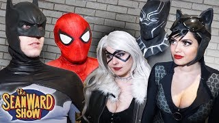 SPIDER-MAN, BATMAN Vs BLACK CAT, CATWOMAN & BLACK PANTHER! Parody Real Life Superhero Movie