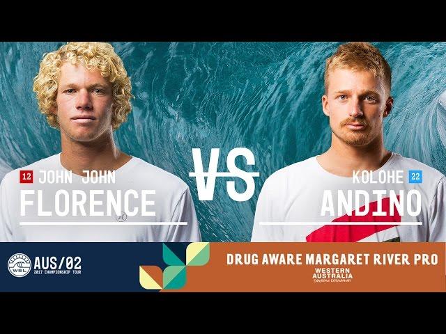 John John Florence vs. Kolohe Andino - FINAL - Drug Aware Margaret River Pro 2017