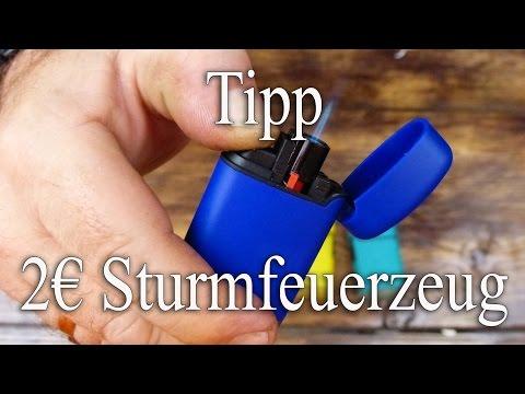 Tipp:  2€ Sturmfeuerzeug