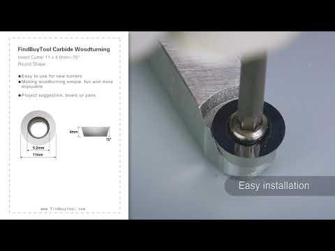 FindBuyTool Карбид Вудтурнинг Вставка Cutter 11 х 4,0 мм-15