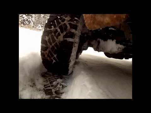 GoodYear DuraTrac Wrangler Tire Review Testing 8″ Of Snow In 2WD! Tyers Start Stop Hill Ice Mud