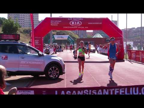La Sansi Sant Feliu de Llobregat 2017 llegada de la campeona de 10km