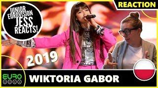 POLAND JUNIOR EUROVISION 2019 REACTION: Wiktoria Gabor   Superhero | JESS REACTS!