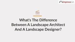 Landscape Architect Vs. Landscape Designer | Know A Pro