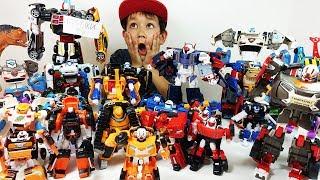 Все мои ТОБОТЫ за 15 минут - 30 Тоботов Трансформируем Челлендж- Игрушки для детей Tobot Transformer