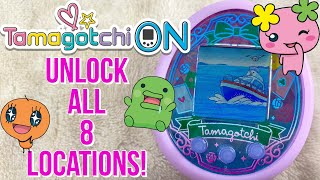 How To Unlock All 8 Locations On The Tamagotchi On Wonder Garden Guide