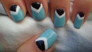 Easy Chevron Nails!