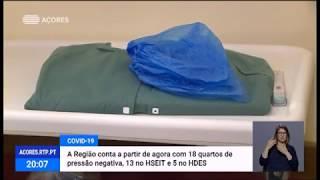 03/05: Açores têm 18 quartos em hospitais para combate à COVID-19