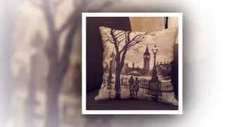 Подушки вышитые крестом / Панна ПД-1606 Лондонский дождь