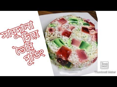 সাবুদানার তৈরি পুডিং // sago milk pudding //tapioca milk pudding racipe//Ayeka's vlog //