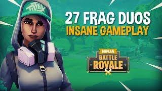 Insane 27 Frag Duos Gameplay!! Fortnite Battle Royale Gameplay - Ninja & SypherPK