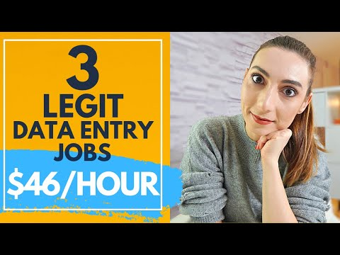 3 Legit Data entry jobs from home that ACTUALLY PAY WELL (make money online in 2021)