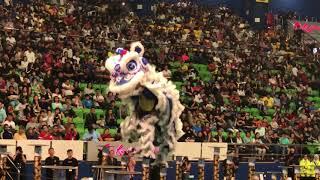 2017年 第18届马来西亚全国舞狮锦标赛 - 决赛 (HD) 拿笃德教会紫瑜阁醒狮团 18 个 难度动作 2分,总得分 9.14