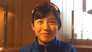 平昌五輪に挑むスピードスケートの高木美帆選手