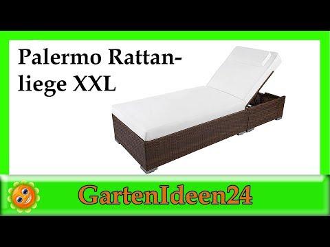 Palermo Rattanliege XXL | Gartenidee | Hilfe bei der Wahl der Gartenliege oder Relaxliege aus Rattan