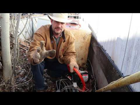 How To Clean a Sewer Line on the cheap!