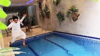 مقلب الغرق في المسبح !!