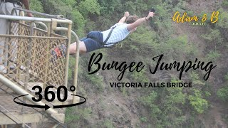 Bungee Jumping off Victoria Falls Bridge Zimbabwe | Garmin VIRB 360 | SafariLife