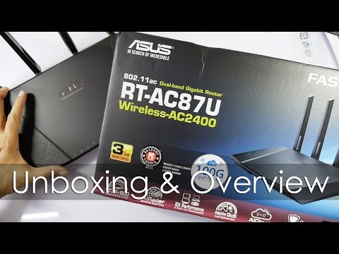 Asus RT-AC87U AC2400 High Performance WiFi Router Unboxing
