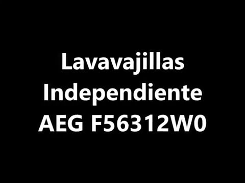 Lavavajillas Independiente AEG F56312W0