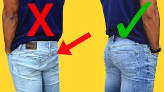 How Jeans Should Properly Fit | AVOID Looking Like A Sauasage
