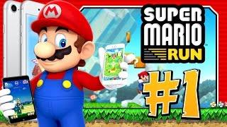 Super Mario Run Part 1: World 1 COMPLETE (IOS, Iphone 7S, Ipad)