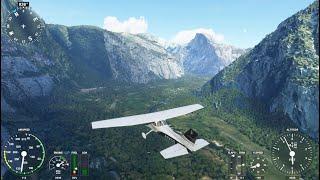 Microsoft Flight Simulator 2020 - Yosemite National Park Tour! / Ultra Settings