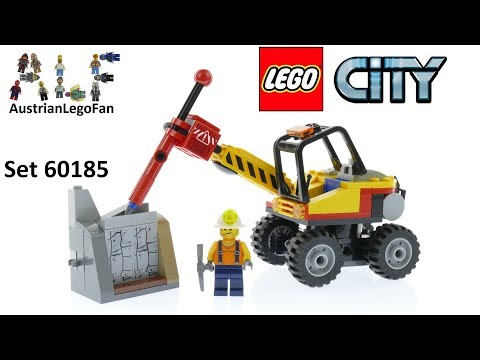 Vidéo LEGO City 60185 : L'excavatrice avec marteau-piqueur