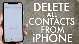 How To Delete All Contacts On iPhone!