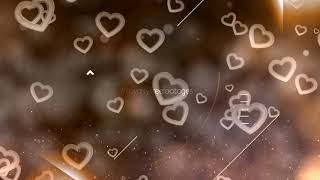heart background animation | Love background video | valentine's day moving hearts background | love