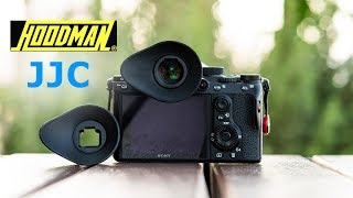 Hoodman Eyecup vs JJC for Sony a7iii a7riii a9 | REVIEW