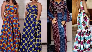 45+ Exclusively Fascinating Ankara Maxi Gown Styles 2020 African Fashion For Young & Mature Ladies
