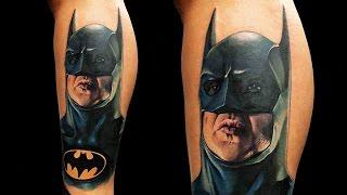 Dinamik Tattoo Time Lapse - Chris Oliveira - Batman